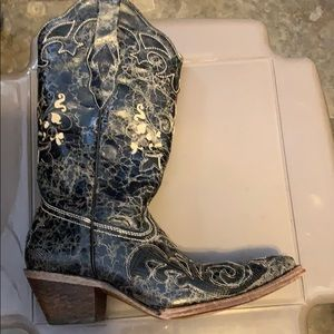 Corral Shoes - RESERVED Handcrafted Vintage Lizard Inlay Boots